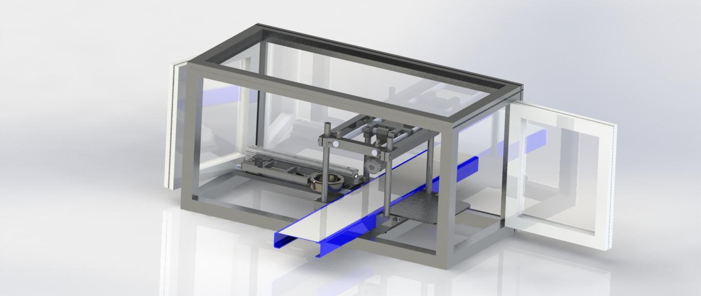 Máquina de detección de piezas por visión artificial