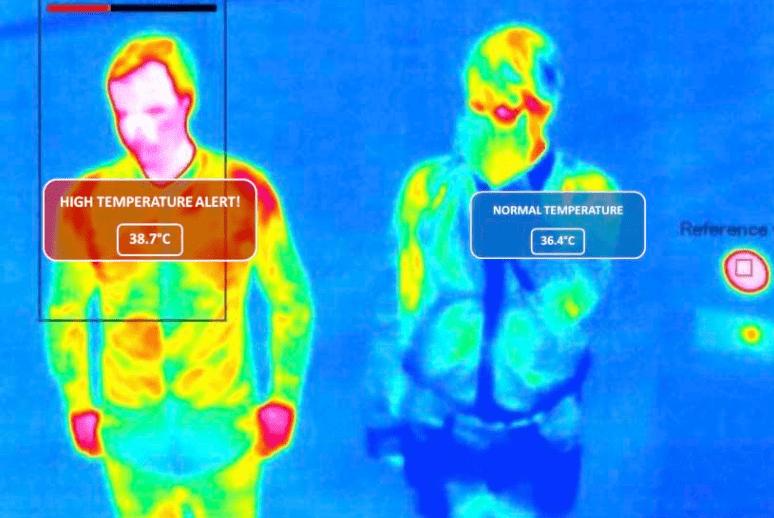 Medición de temperatura corporal con cámara Mobotix