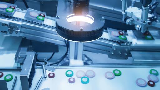 Imagen de un equipamiento de visión artificial en la industria